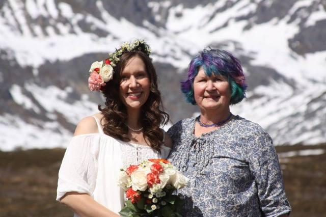 joie and karen, wedding day
