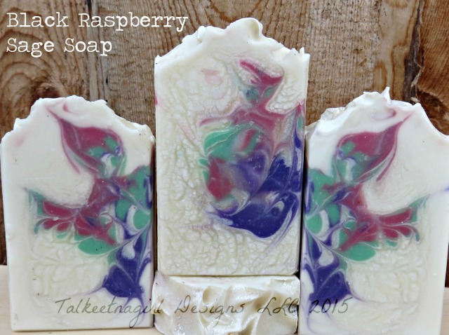 black raspberry sage soap 2015