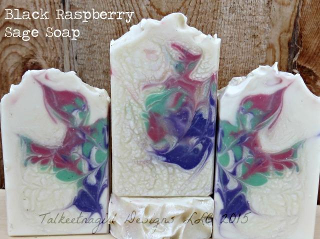 black raspberry sage soap 2015