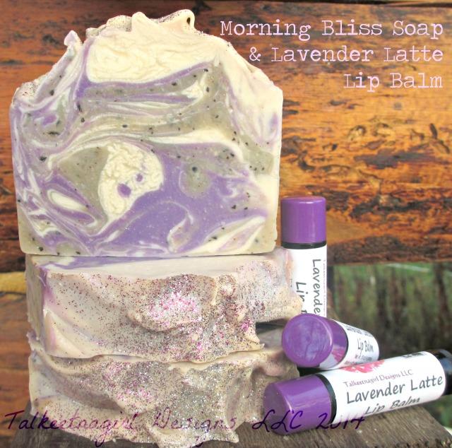 lavender latte soap and lip balm