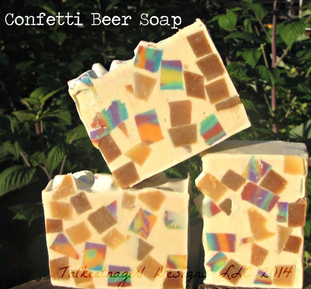 Confetti beer soap 7.20.14