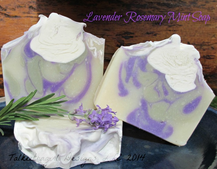 lavender rosemary mint soap 6.22.14