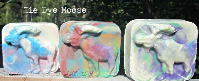 tie dye moose soap