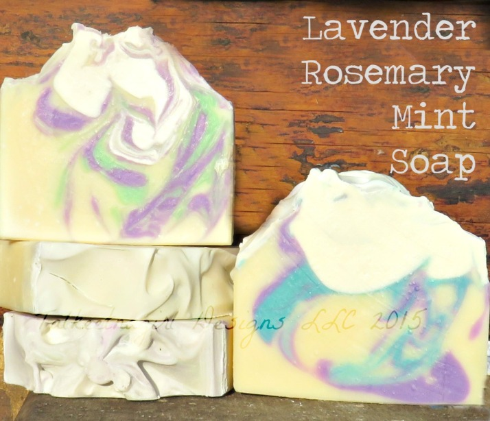 lavender rosemary mint soap 3.14.15